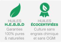 Huiles essentielles HEBBD et éco certifiées