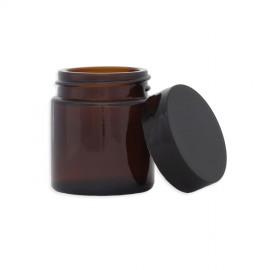 Pommadier en verre ambré - 30ML