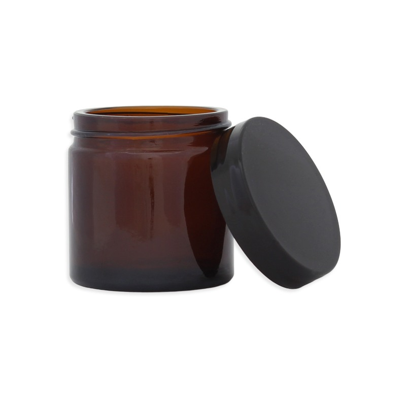 Pommadier en verre ambré - 60ML