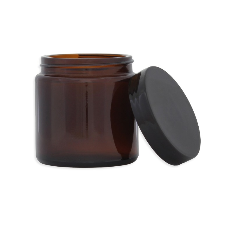 Pommadier en verre ambré - 120ML