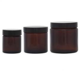 Lot Pommadiers en verre ambré - 30ML, 60ML et 120ML