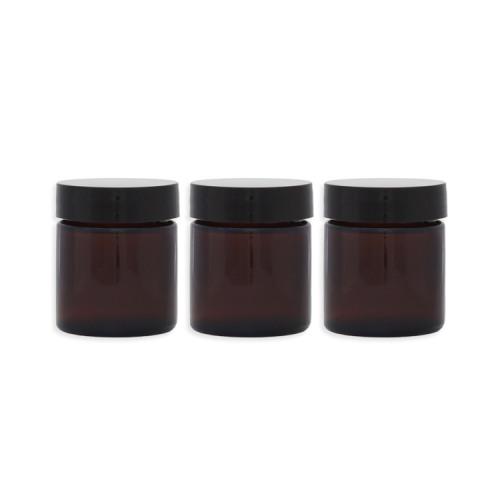 Lot 3 Pommadiers en verre ambré - 30ML