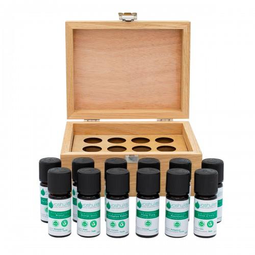 Coffret Aromathérapie 12 flacons d'huiles essentielles