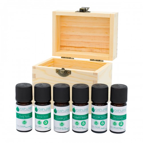 Coffret Aromathérapie 6 flacons d'huiles essentielles