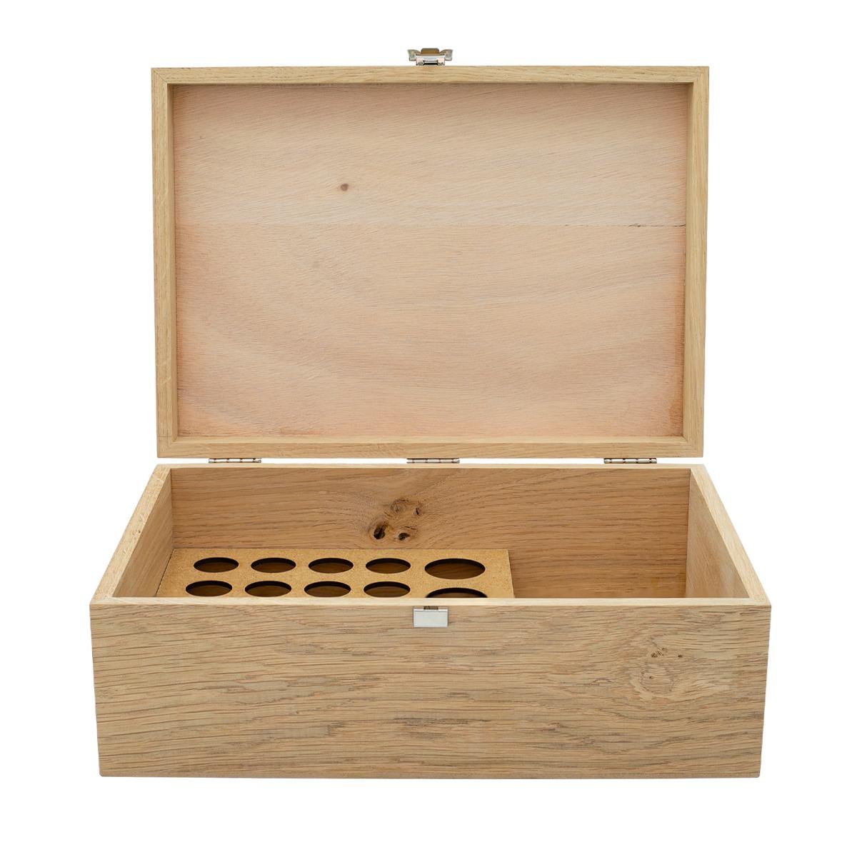 Rangement Pour Le Bois boite en bois de rangement pour 20 flacons de 5 ou 10ml et 4