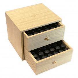 Boite en bois de rangement pour 72 flacons de 5 ou 10ml