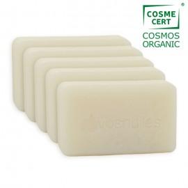 Lot de 5 Savons Calendula et Jojoba pour peau neutre COSMOS