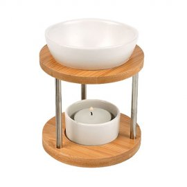 Brûle-parfum en Bambou et Céramique