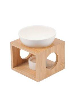 Brûle-parfum Design en Bambou et Céramique