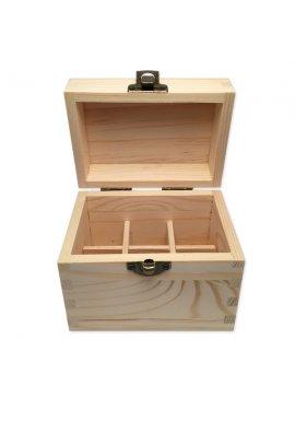 Boite en bois de rangement pour 6 flacons de 5 ou 10ml