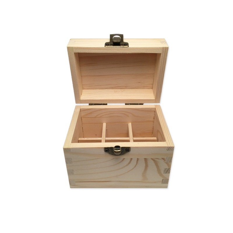 boite en bois de rangement pour 6 flacons de 5 ou 10ml. Black Bedroom Furniture Sets. Home Design Ideas