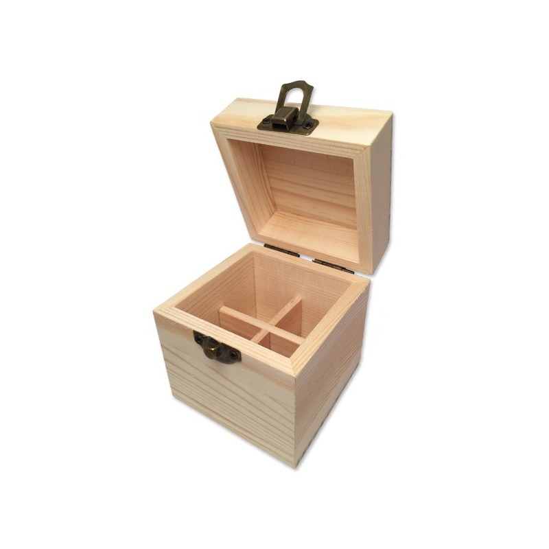 boite en bois de rangement pour 4 flacons de 5 ou 10ml. Black Bedroom Furniture Sets. Home Design Ideas