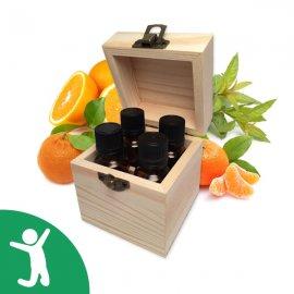 Coffret Détente et Bien-être - 4 huiles essentielles