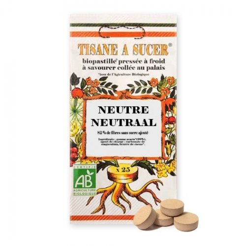 25 Pastilles Supports Neutres BIO