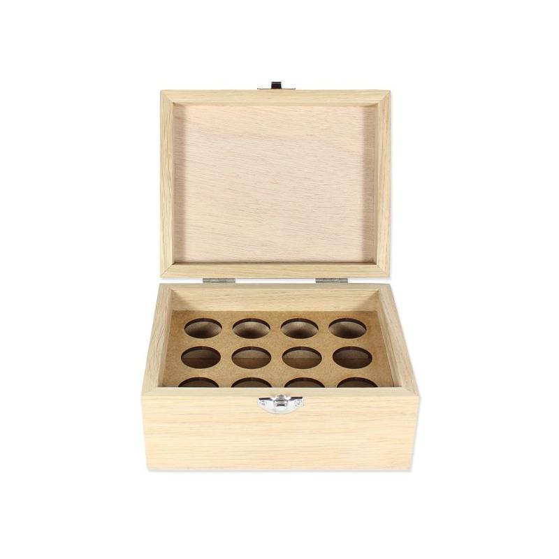 coffret en bois pour huiles essentielles boite en bois. Black Bedroom Furniture Sets. Home Design Ideas