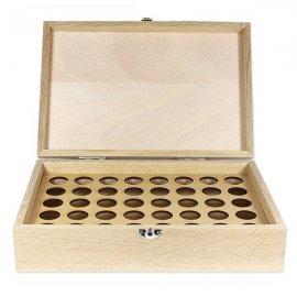 Boite en bois de rangement pour 40 flacons de 5 ou 10ml