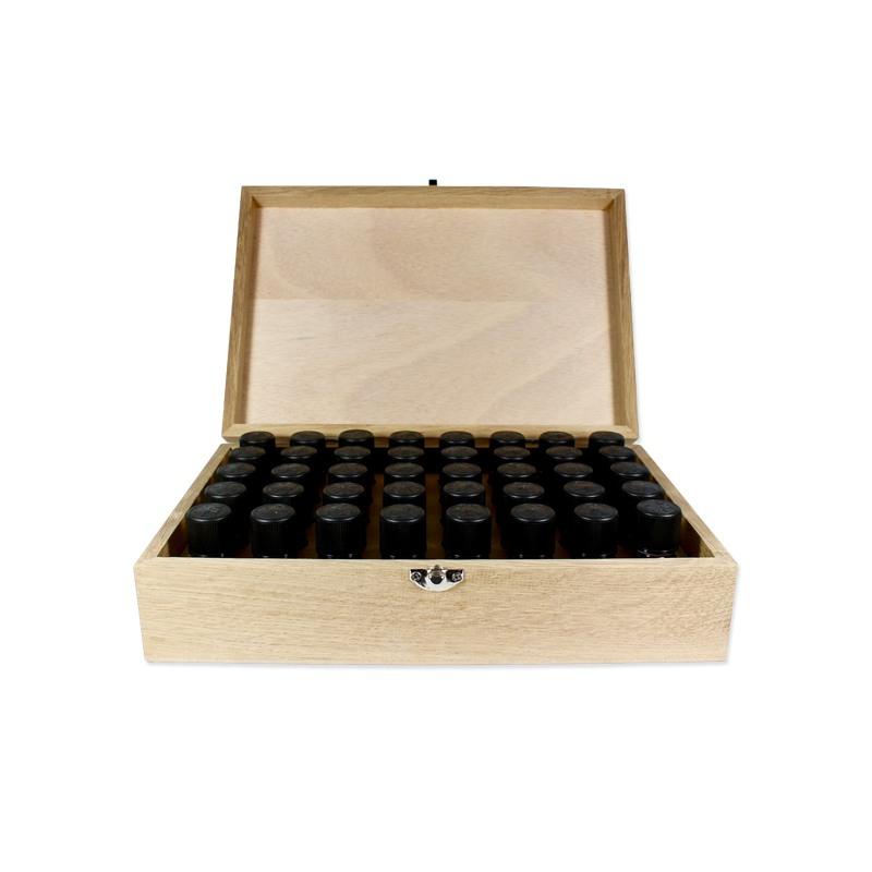 Boite en bois de rangement pour 40 flacons de 5 ou 10ml - Voshuiles.com